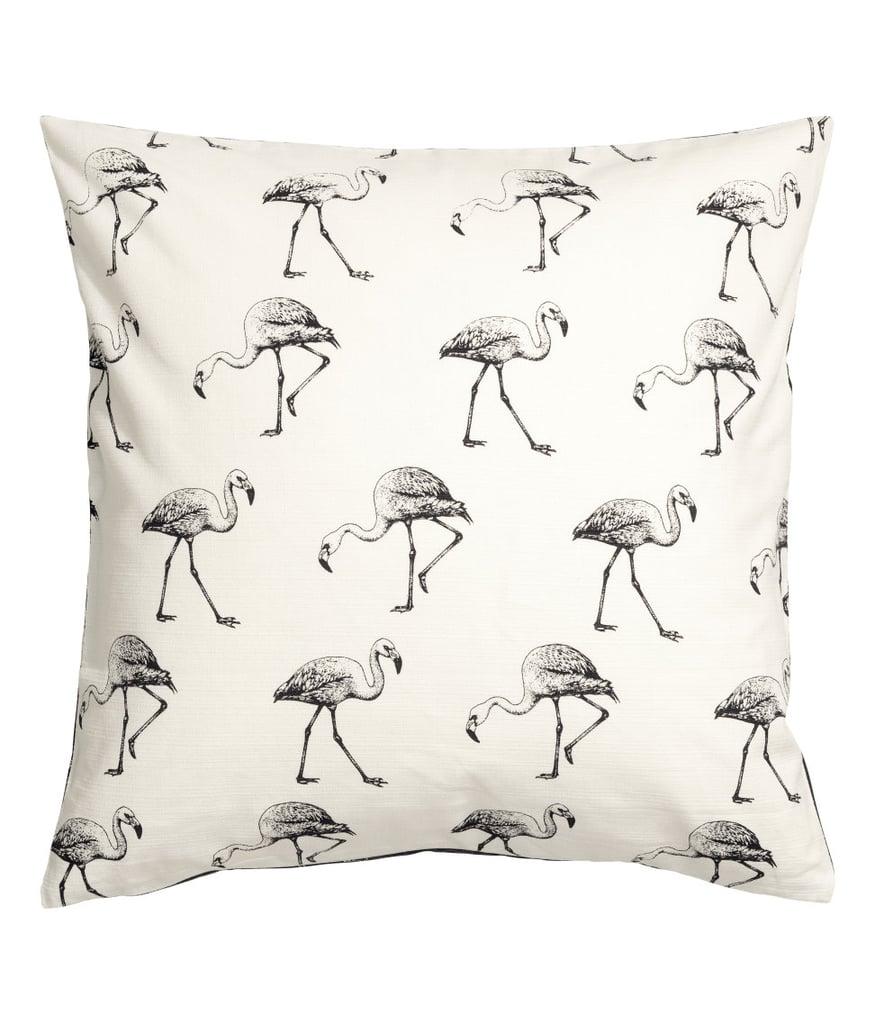 H&M Flamingo-Print Cushion Cover