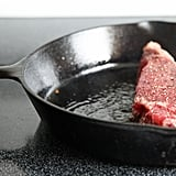 Sear steak with lard.