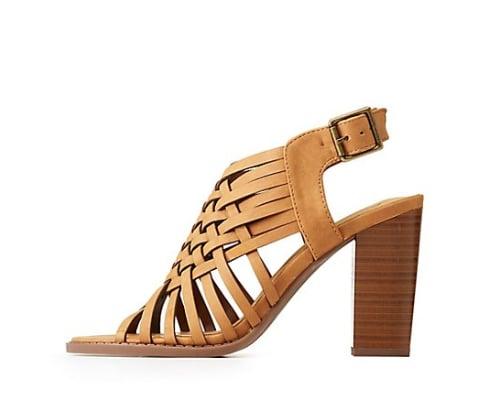 Open Toe Lattice Sandals