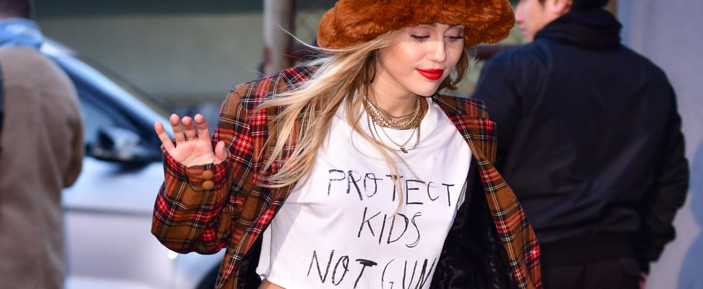 "Miley Cyrus ""Protect Kids Not Guns"" T-Shirt December 2018"