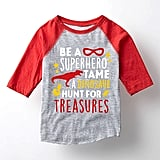 Athletic Heather & Red 'A Superhero' Raglan Tee