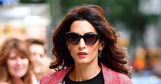 Amal Clooney Does Fall Pattern Mixing Flawlessly