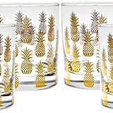 Pineapple Old-Fashioned Glasses ($65 set of 4)