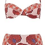 Topshop Poppy Check Bikini Set