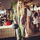 Tuula's Jessica Stein looking gorge in floral Camilla and Marc.