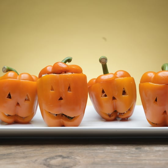 Jack-o'-Lantern Protein Peppers Recipe | Video
