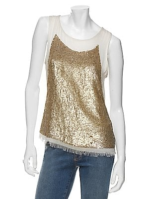 Gryphon Chiffon Sequin Cami