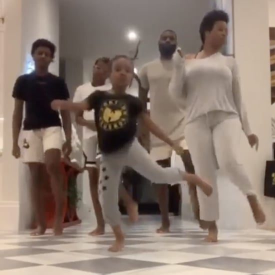 "LeBron James and His Kids Do Drake's ""Toosie Slide"" Dance"
