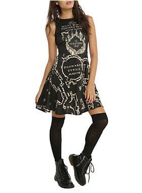 Black Marauder's Map Dress