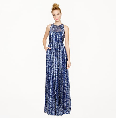 J.Crew's Collection Meghan Long Dress ($495) marries a traditional silhouette with a gorgeous, unconventional print.