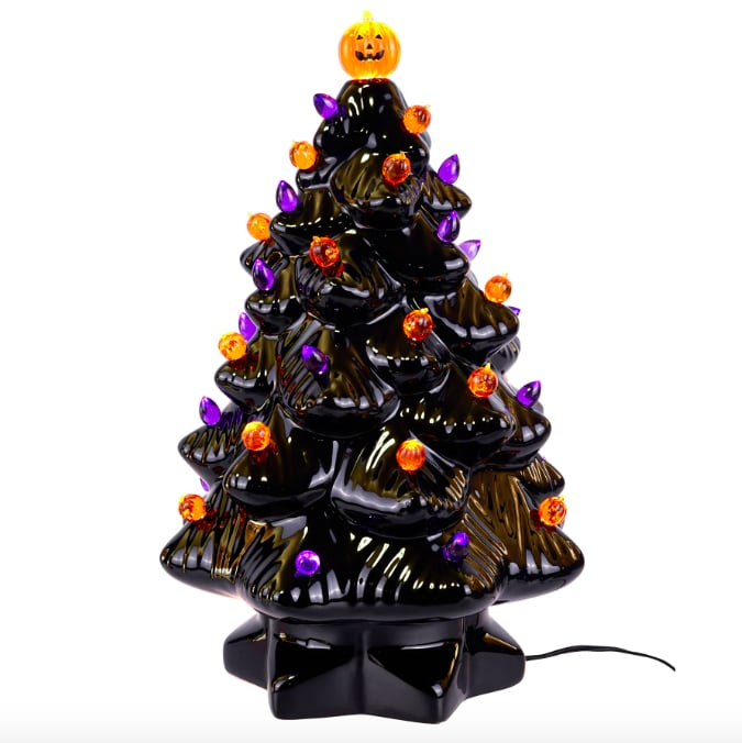 Halloween Christmas Tree.Michaels Ceramic Halloween Tree Popsugar Home