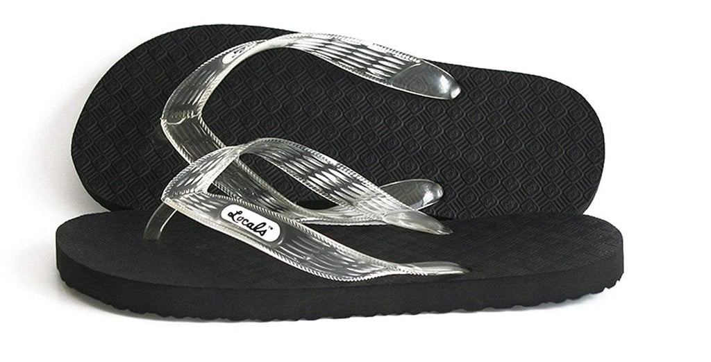 Locals Black With Clear Strap Slipper
