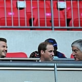 Great Britain beat the United Arab Emirates 3-1, with Prince William and David Beckham in the stands.