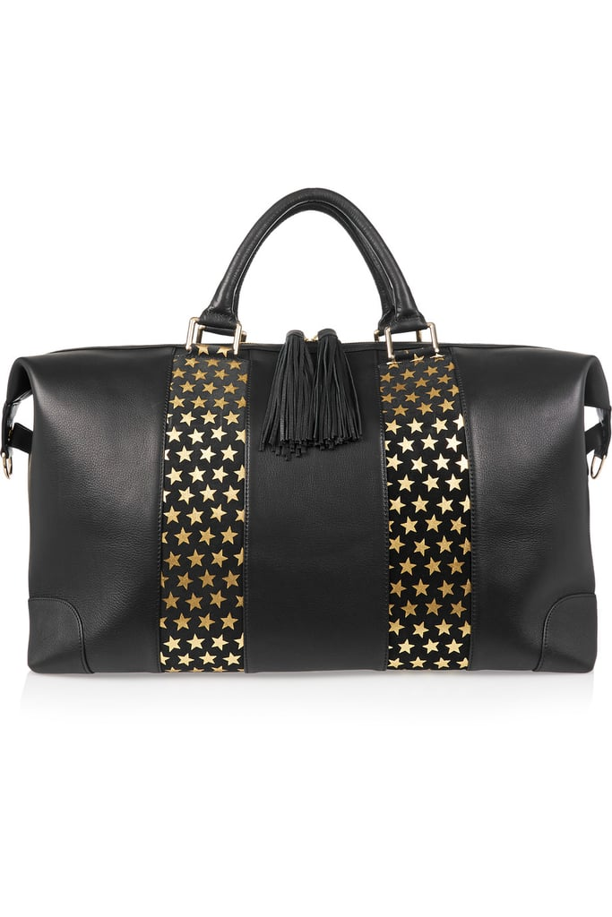 Eddie Harrop Voyager Textured-Leather and Suede Weekend Bag ($1,235)