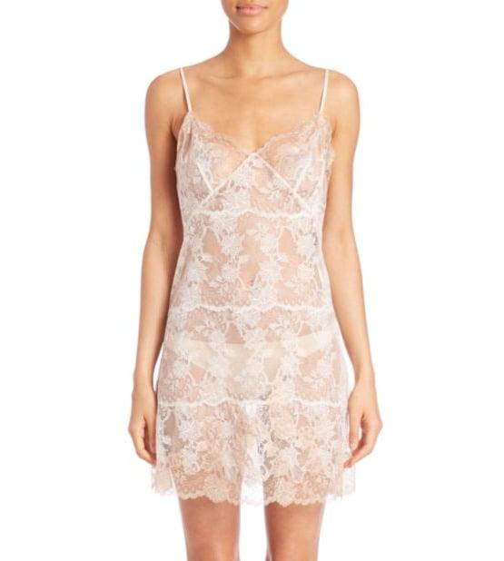 Josie Natori Chantilly Lace Chemise ($550)