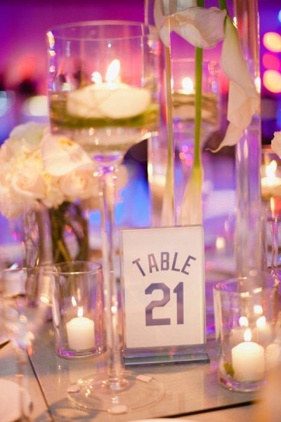 Jersey Table Numbers