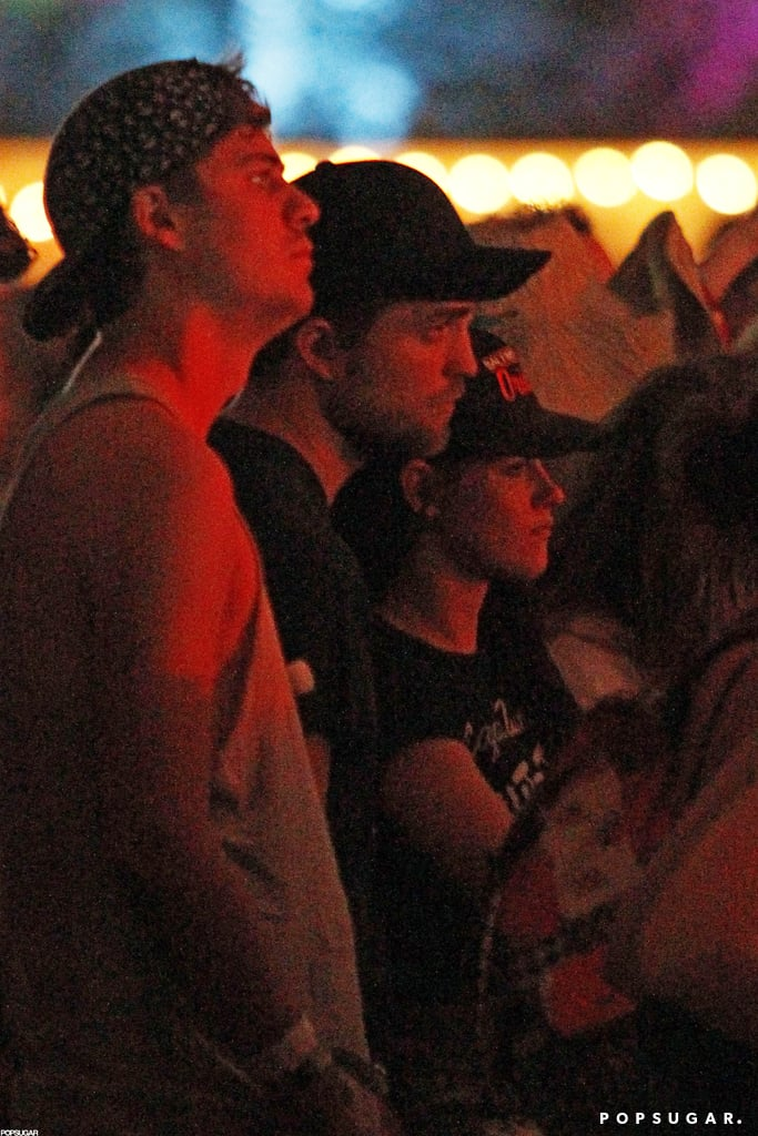 Robert Pattinson and Kristen Stewart watched live music together at Coachella in April 2012 in Indio, CA.
