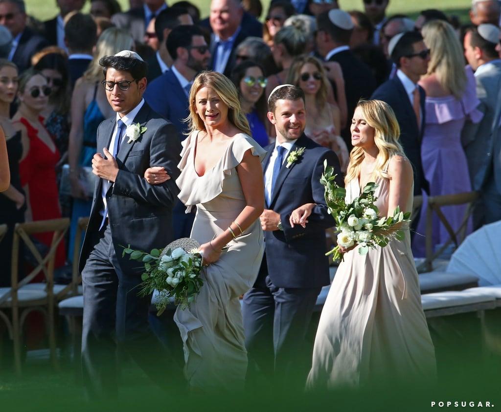 Lauren Conrad Bridesmaid at Friend's Wedding August 2017