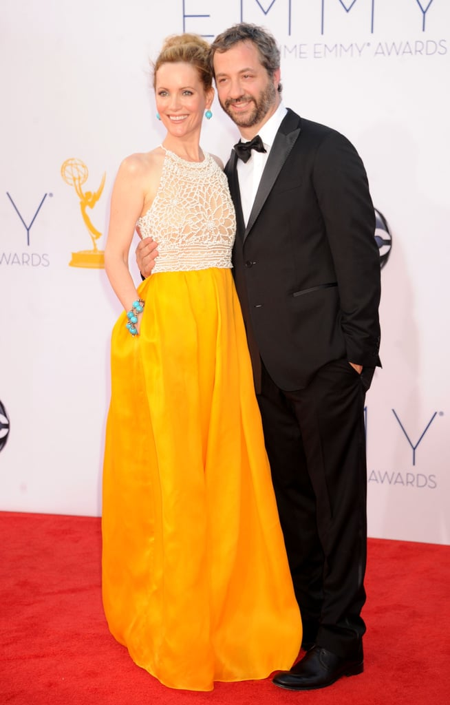 Leslie Mann, mom to Iris and Maude, shone bright on the Emmys red carpet.