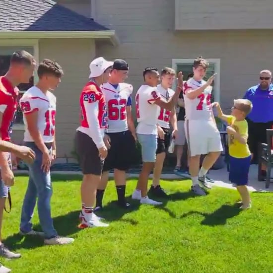 Idaho Boy With Autism Is Surprised by Football Team