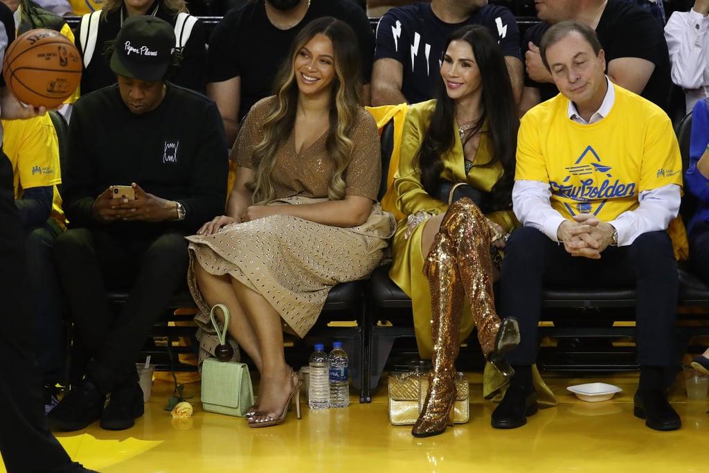 Beyoncé's Neutral Outfit at the NBA Finals 2019