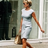 Princess Diana's shopping look makes us rethink the outfits we've been strolling down the streets in. While she was never one for casual attire, she still stays smart in a pair of nude flats. Source: Getty/Anwar Hussein