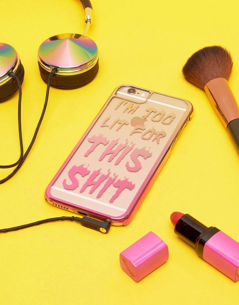 """I'm Too Lit For This Sh*t"" iPhone Case"