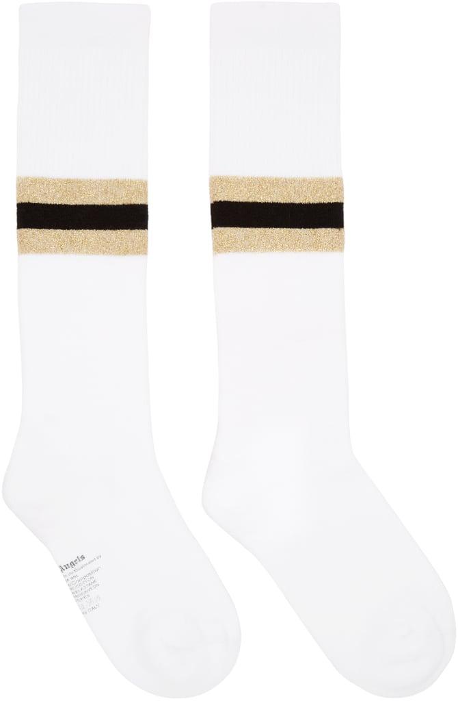 Palm Angels White Striped Socks ($60)