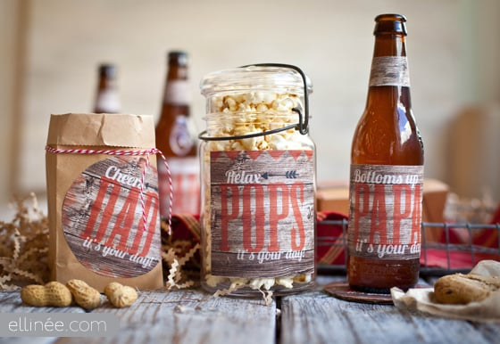 Father's Day Treat and Beverage Labels