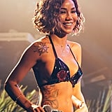 Jhené Aiko's Wavy Bob Haircut in 2018
