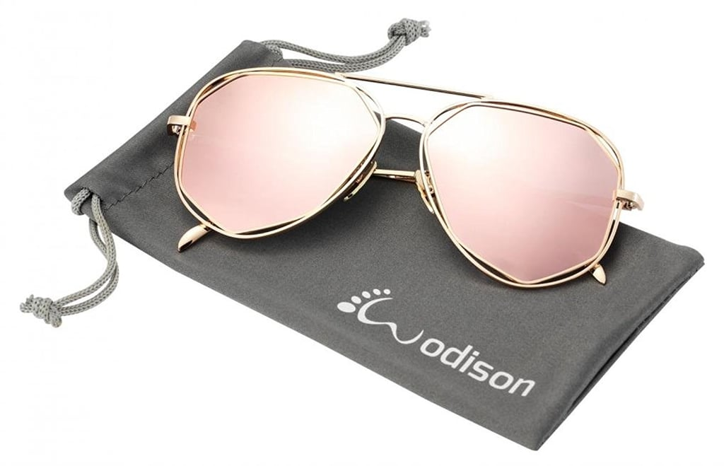 Wodison Polarized Reflective Aviator Sunglasses