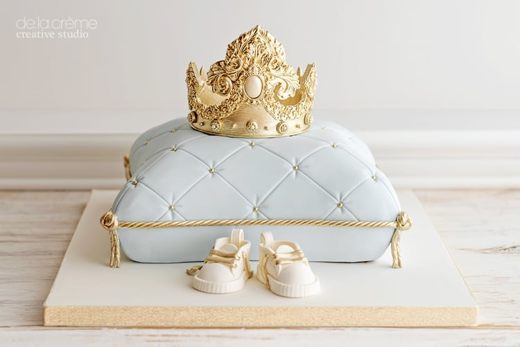 Royal Prince Baby Shower Cake Popsugar Moms Photo 1