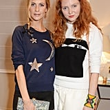 Poppy Delevingne and Lily Cole attended a party in London.