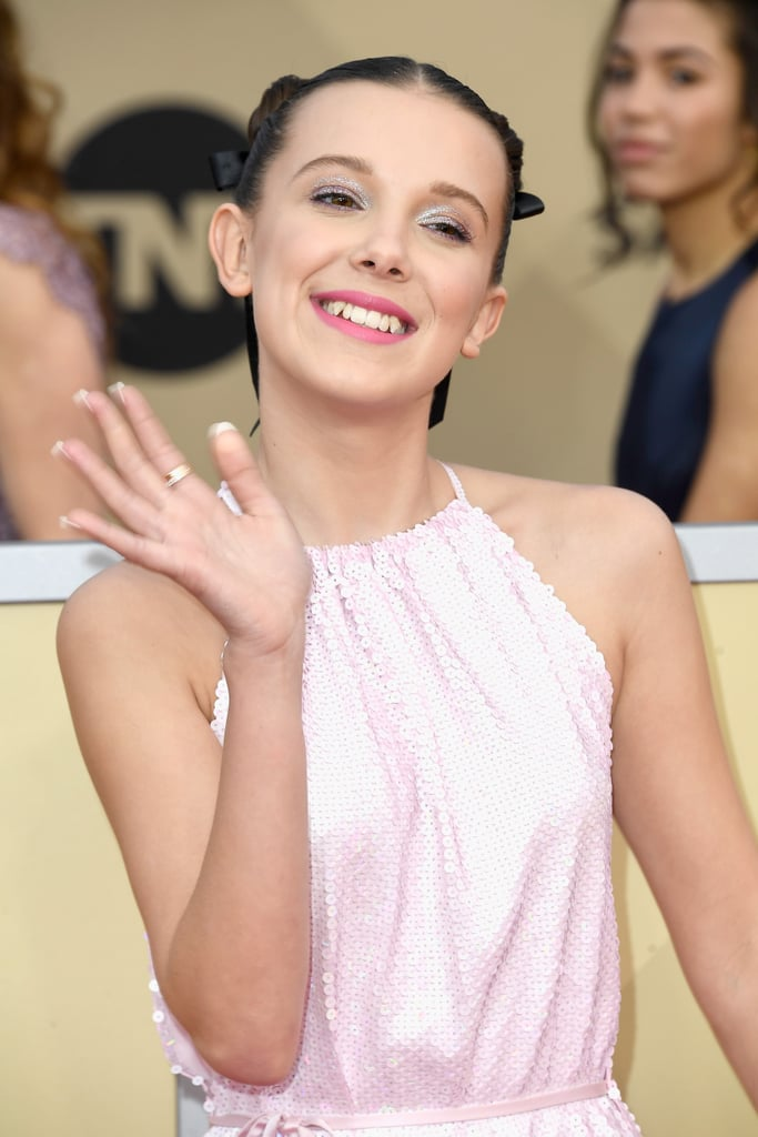 If Millie Bobby Brown's Space Buns Don't Make You Swoon, Her Nails Sure Will