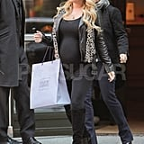 Jessica Simpson wore her hair down in NYC.