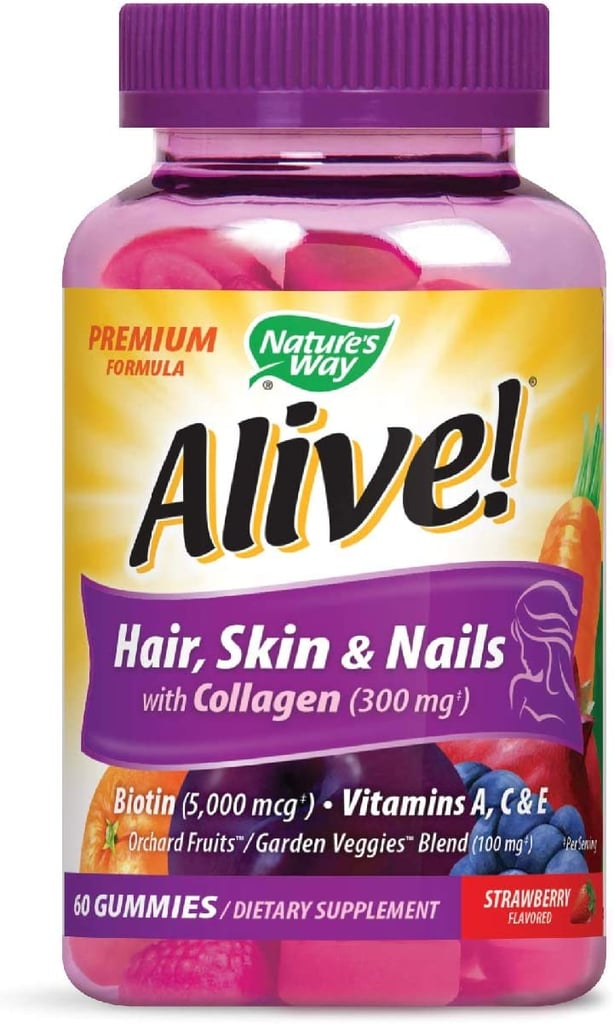 Alive! Premium Hair, Skin and Nails Multivitamin with Biotin and Collagen