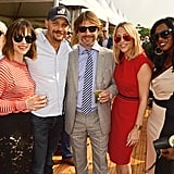 With his wife, Jay Key, and All Saints' Nicole Appleton and Shaznay Lewis at the Audi Polo Challenge in 2016.