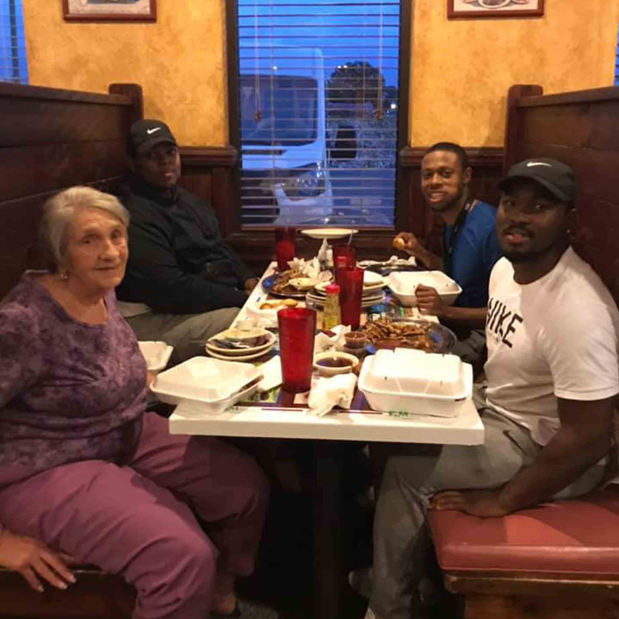 Man Approaches Elderly Woman Eating Alone | POPSUGAR UK Parenting