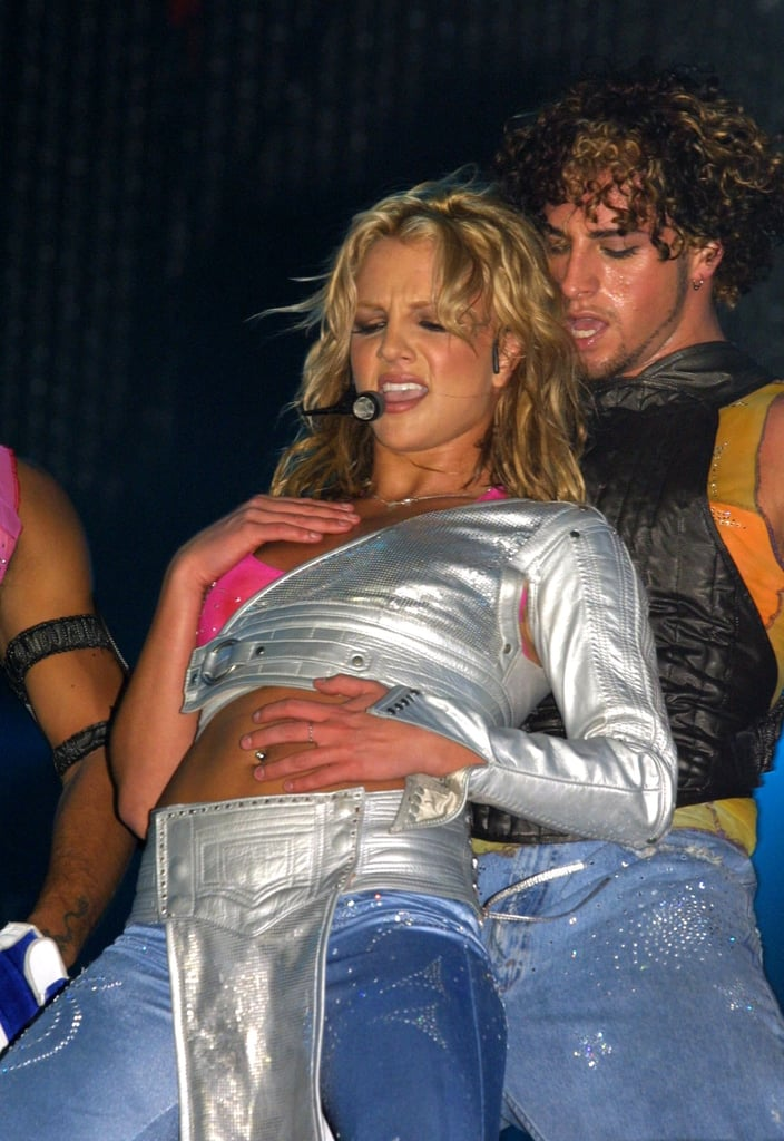 Britney Spears wore silver to 2001's Rock in Rio concert.