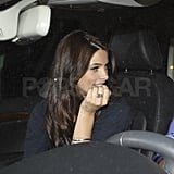 Ashley Greene left dinner at Nobu in LA with a friend.