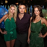 Ed Westwick found himself surrounded by his lovely costars Taylor Momsen and Leighton Meester during a July 2007 party thrown by the CW in LA.