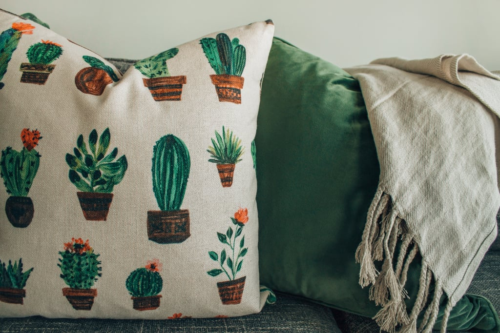 Repurpose old clothing into a pillow, drapes, or blanket.