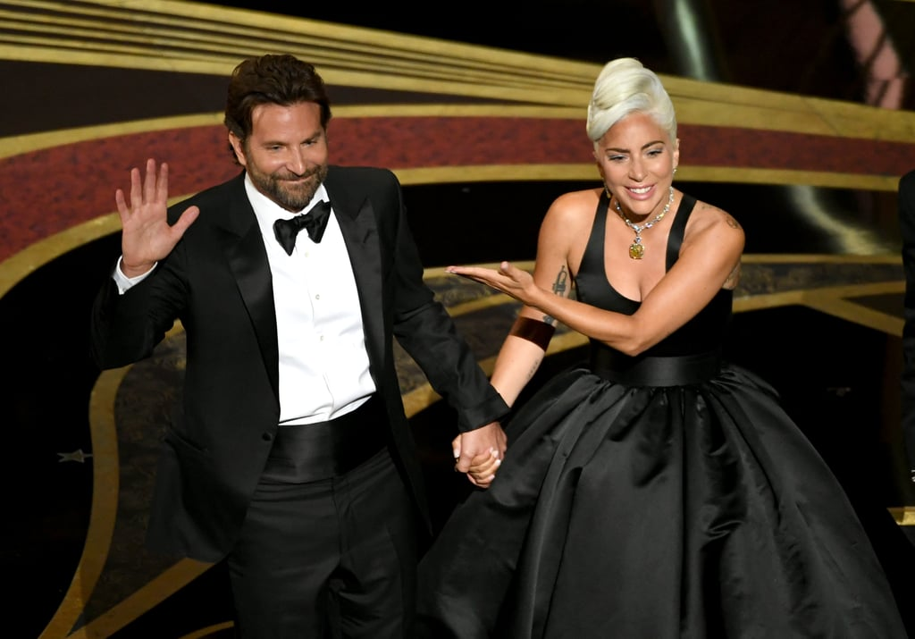 "Well, A Star Is Born fans, it finally happened: Lady Gaga and Bradley Cooper belted out ""Shallow"" at the Oscars. As expected, it was absolutely stunning. The pair, who each hit the red carpet looking as glamorous as ever, took to the stage at the 91st annual award show to perform the Oscar-nominated song that has been stuck in everyone's head (including fellow A-listers) since their musical drama premiered back in October. They held hands as they made their way out of the audience and directly onto the stage for a stripped-down version of the hit, which ended with a swoon-worthy glance between the two of them. Somehow it was even better than the surprise rendition of the emotional tune they performed at Gaga's Vegas residency in January. Gaga and Cooper weren't the only ones to perform at the host-less event, either — most of the other best song nominees were performed live as well, by everyone from Jennifer Hudson to Bette Midler. Once you've been sufficiently wowed by all of the musical moments from Sunday night, check out every award ""Shallow"" has already taken home over the last few months, and keep scrolling to watch Cooper and Gaga's performance!      Related:                                                                                                           Powerhouse Jennifer Hudson Hit ALL the Notes While Performing at the Oscars"