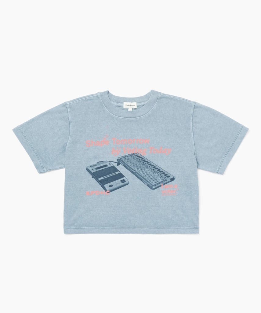 Richer Poorer I Am A Voter Relaxed Crop Tee