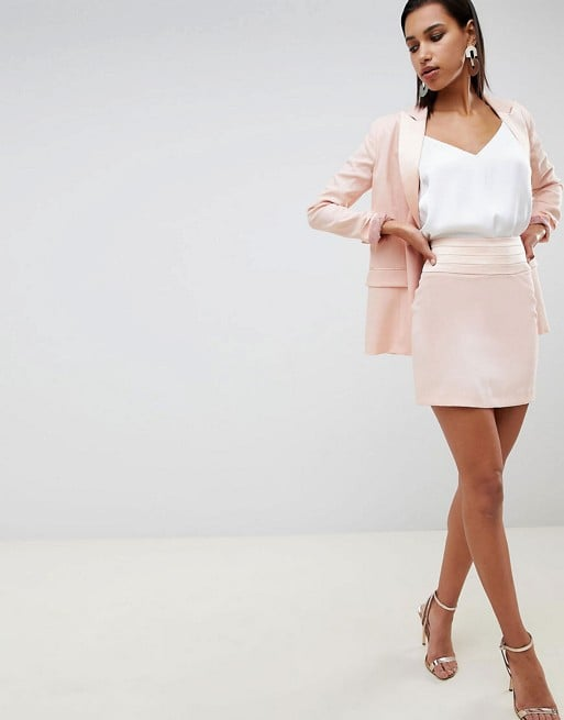 Asos Design Satin Contrast Suit
