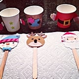 Holiday Cup Puppets