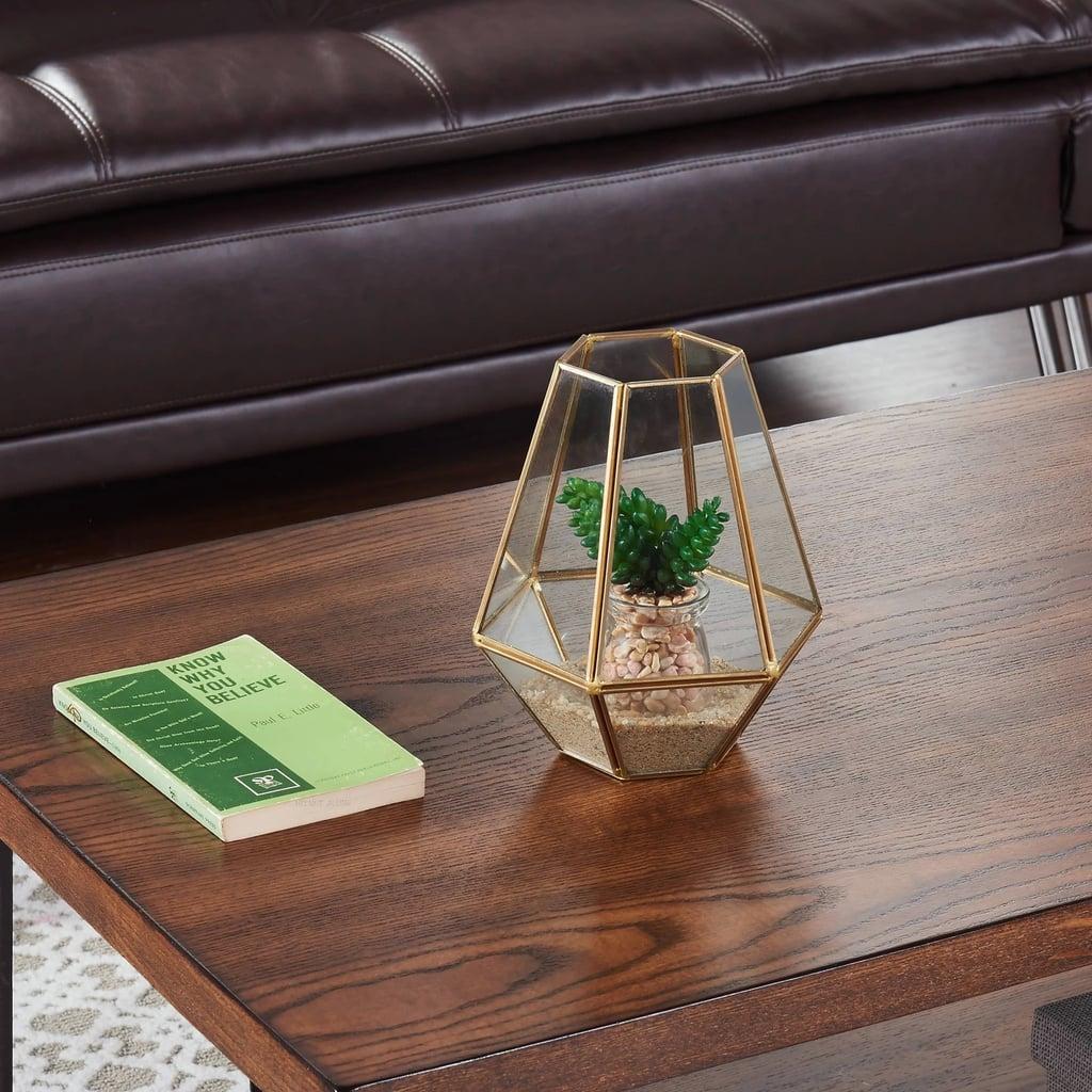 Diamond-Shaped Glass Terrarium