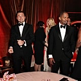 A-listers Leonardo DiCaprio and Jamie Foxx mingled with other guests at the afterparty.