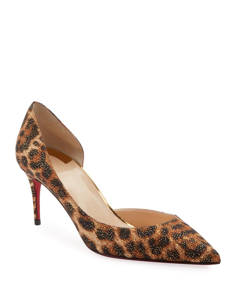 50da28164 Christian Louboutin Iriza Leopard-Print Half dOrsay Red Sole Pumps ...