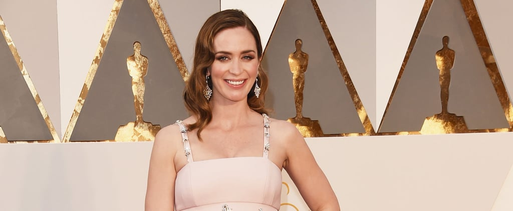 Emily Blunt Hit the Oscars Red Carpet With Her Precious Baby Bump